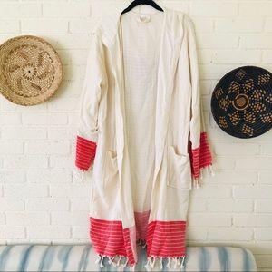 100% Bamboo Handwoven Kimono Boho Festival Robe